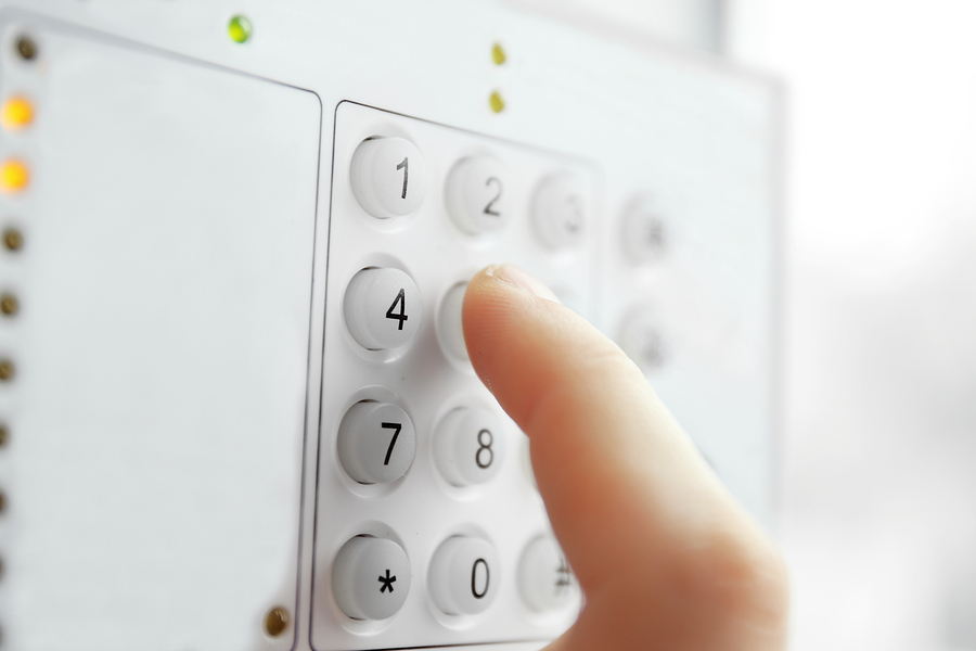 Security alarm keypad